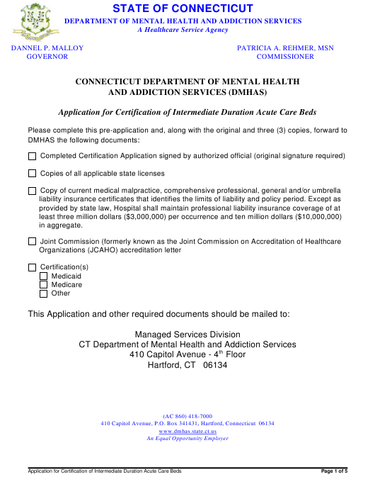 graphic regarding Printable Medicaid Application named Software package for Certificate of Intermediate Length Acute