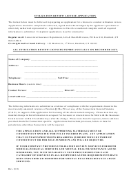 """Utilization Review License Application Form"" - Connecticut"