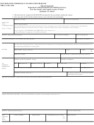 "Form MHCC-1A ""Psychologist Emergency Examination Request"" - Connecticut"