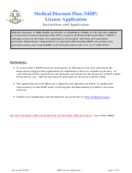Medical Discount Plan (Mdp) License Renewal Form - Connecticut