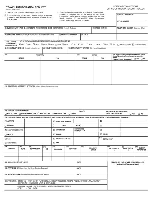 Form CO-112  Printable Pdf