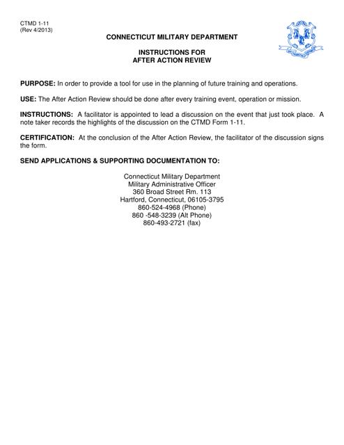 CTMD Form 1-11  Printable Pdf