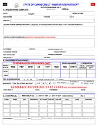 Form PC-1 Requisition Form - Connecticut