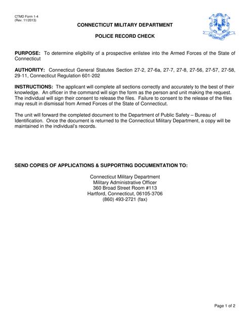 CTMD Form 1-4  Printable Pdf