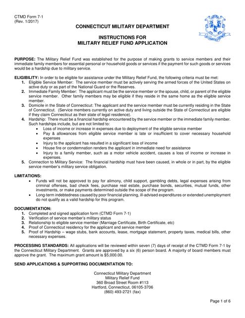 CTMD Form 7-1  Printable Pdf