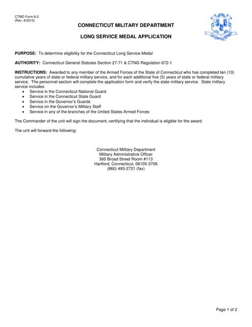 CTMD Form 6-2  Printable Pdf