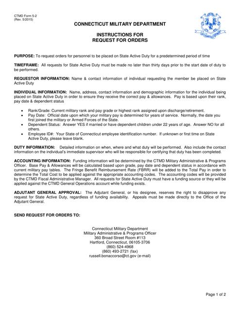 CTMD Form 5-2  Printable Pdf