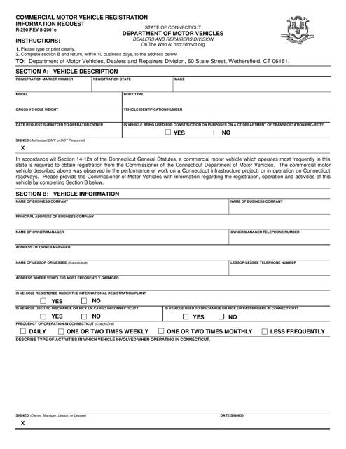Form R-290  Printable Pdf