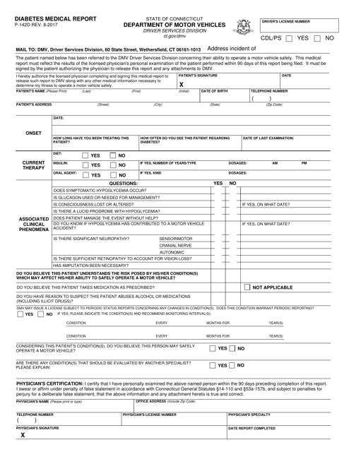 Form P-142D  Printable Pdf