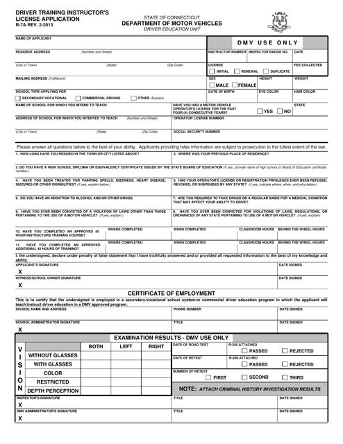 Form R-7A  Printable Pdf