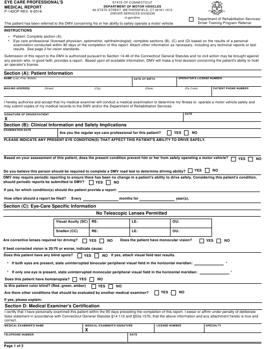 Form P-142OP  Printable Pdf