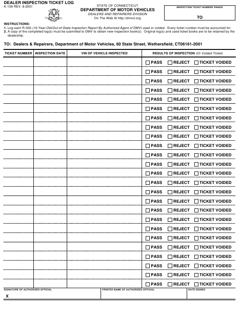 Form K-159  Printable Pdf