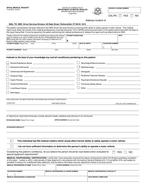 Form P-40  Printable Pdf
