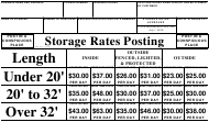 "Form K-88 ""Motor Vehicles Storage Rates Posting for Dealers and Repairers"" - Connecticut"