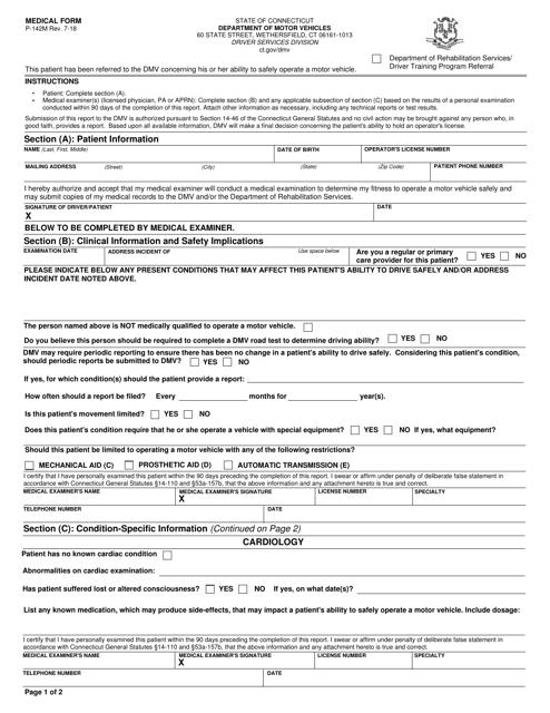 Form P-142M  Printable Pdf
