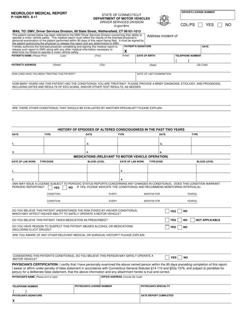 Form P-142N  Printable Pdf
