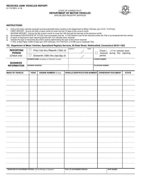Form K-174  Printable Pdf