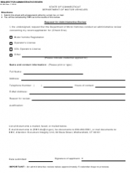 Form B-360 Request for Administrative Review - Connecticut