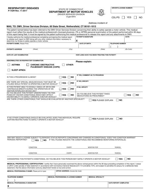 Form P-142R  Printable Pdf