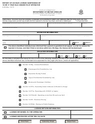 "Form A-88 ""Report of 48 Hour License Suspension of 16 or 17 Year Old Connecticut Operator"" - Connecticut"
