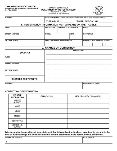 Form L-4  Printable Pdf