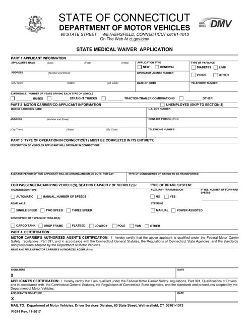 Form R-314  Printable Pdf