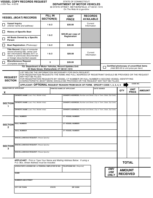 Form J-23V  Printable Pdf