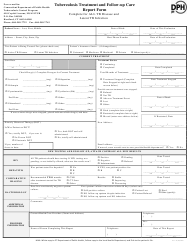 """""""Tuberculosis Treatment and Follow-Up Care Report Form"""" - Connecticut"""