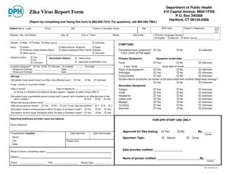 """Zika Virus Report Form"" - Connecticut"