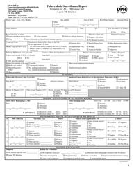 """Tuberculosis Surveillance Report Form"" - Connecticut"