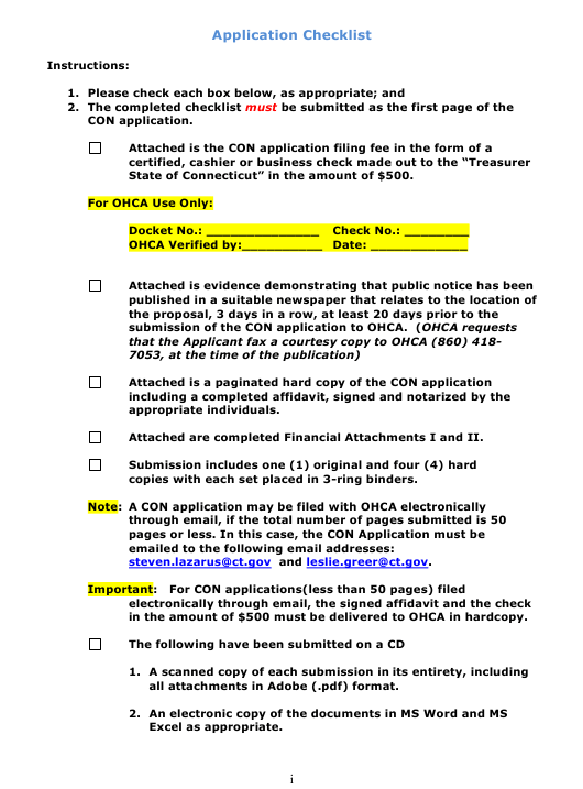"""""""Certificate of Need Application Packet"""" - Connecticut Download Pdf"""