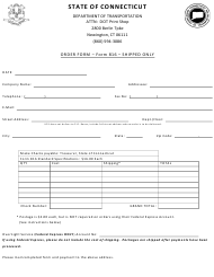 "Form 816 ""Order Form"" - Connecticut"