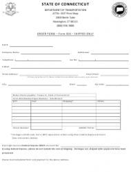 Form 816 Order Form - Connecticut