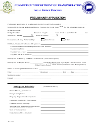 2019 Preliminary Application Form - Local Bridge Program - Connecticut