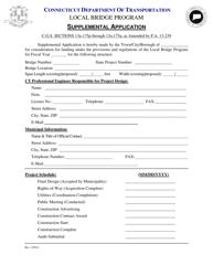 """Supplemental Application Form - Local Bridge Program"" - Connecticut"