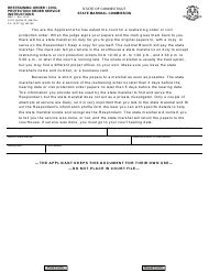 "Form Smc-1 ""Restraining Order / Civil Protection Order Service Instructions"" - Connecticut (English/Spanish)"