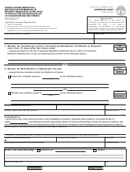 Form JD-CV-96 Foreclosure Mediation - Motion for Permission to Request Mediation Later Than 15 Days After Return Date or to Change Mediation Period - Connecticut