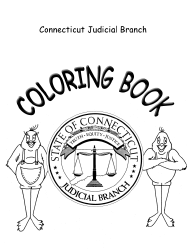 """Corthouse Tour Coloring Book"" - Connecticut"