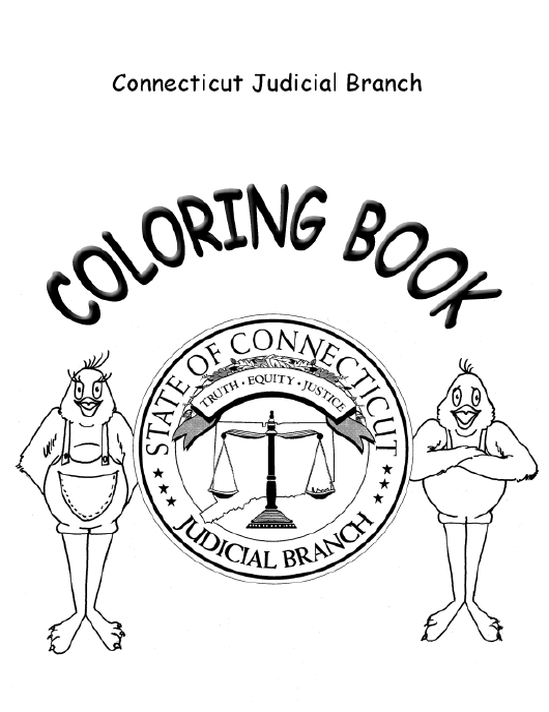 """Corthouse Tour Coloring Book"" - Connecticut Download Pdf"