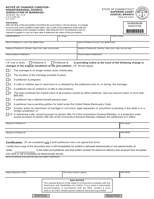 Form JD-FM-244  Printable Pdf