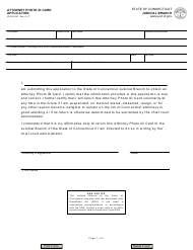 "Form JD-ES-229 ""Attorney Photo Id Card Application"" - Connecticut"