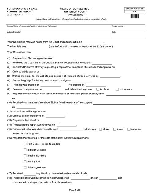 Form JD-CV-75  Printable Pdf