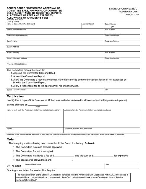 Form JD-CV-99  Printable Pdf