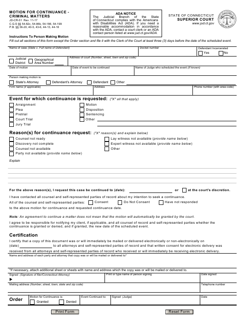 Form JD-CR-51  Printable Pdf