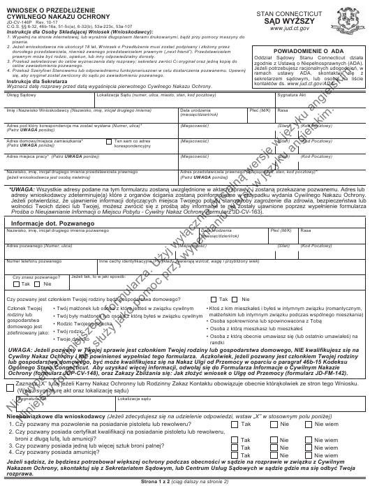 Form JD-CV-146P Printable Pdf