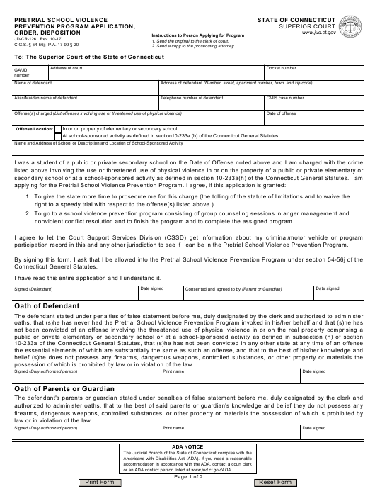 Form JD-CR-126 Fillable Pdf