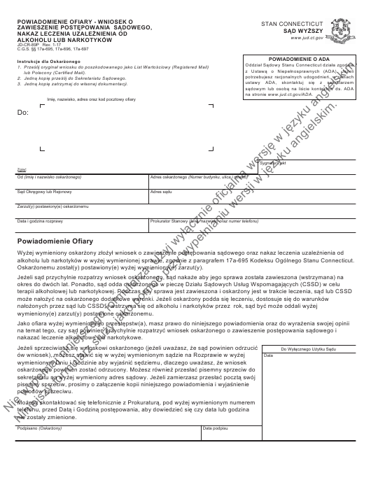 Form JD-CR-89P Printable Pdf