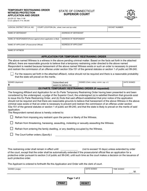 Form JD-CR-127  Printable Pdf
