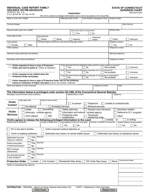 Form JD-FM-102  Printable Pdf