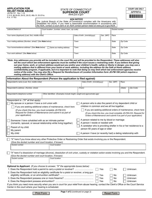 Form JD-FM-137  Printable Pdf